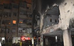 منازل متضررة في تل أبيب  بفعل صواريخ غزة