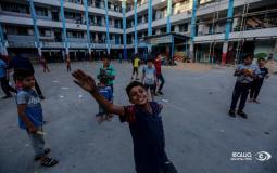 لاجئون في إحدى مدارس الأونروا بغزة عقب العدوان الأخير
