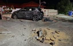 الأضرار المادية في مدينة عسقلان وانقطاع التيار الكهربائي