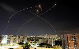 القبة الحديدية تتصدى لصواريخ غزة