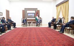 الوفد الأمني المصري يجتمع مع الرئيس عباس