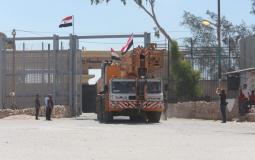 من المعدات المصرية التي دخلت غزة اليوم