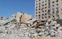 تدمير برج الجلاء في الحرب الأخيرة على غزة
