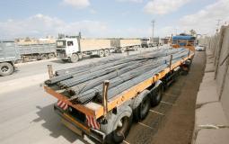 حديد البناء يدخل غزة مجددا