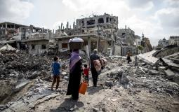 منازل مدمرة في غزة