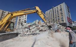 يأمل الفلسطينيون أن يبدأ إعادة الإعمار قريبا - أرشيف