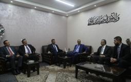 النائب العام بغزة ضياء الدين المدهون يستقبل النائب العام بالضفة الغربية أحمد براك