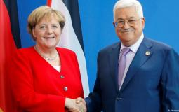 لرئيس الفلسطيني محمود عباس والمستشارة الألمانية أنيجلا ميركل