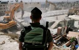 الاحتلال يهدم منشآت سكنية وزراعية
