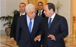 الرئيس عباس ونظيره المصري عبد الفتاح السيسي