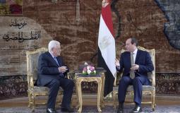 الرئيس محمود عباس ونظيره المصري عبد الفتاح السيسي - أرشيفية