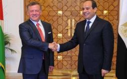 عبد الفتاح السيسي والملك عبدالله الثاني