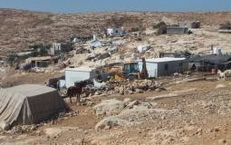 الاحتلال يهدم مناطق بمسافر يطا