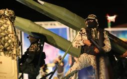 مقاتلو سرايا القدس أثناء عرض عسكري في غزة - أرشيفية