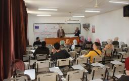"""""""مؤسسة الضمير"""" تختتم 5 ورش تدريبية لطلبة جامعة الأزهر بغزة"""