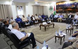اجتماع الفصائل مع الوفد الأمني المصري في غزة اليوم
