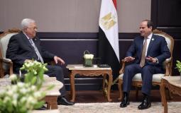 الرئيس الفلسطيني محمود عباس والرئيس المصري عبد الفتاح السيسي - ارشيفية