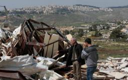 الاحتلال يهدم غرفة زراعية وبئر مياه