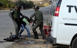 قوات الاحتلال تعتدي على صحفيين - أرشيفية