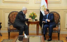 لقاء بين الرئيس الفلسطيني محمود عباس ونظيره المصري عبد الفتاح السيسي