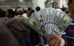 100 دولار المنحة القطرية الدفعة الثالثة في غزة