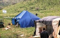 مستوطنون ينصبون خياماً في الأغوار الشمالية