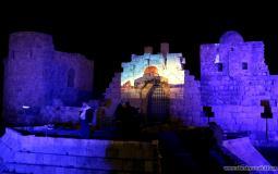 القدس على أسوار قلعة صيدا البحريّة