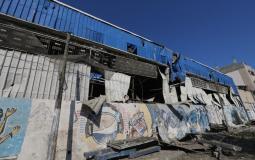 مصنع النايلون الذي استهدفته طائرات الاحتلال- غزة
