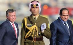 الرئيس السيسي والملك عبد الله الثاني - أرشيفية -