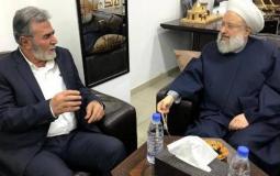 لقاء زياد النخالة مع الشيخ ماهر حمود