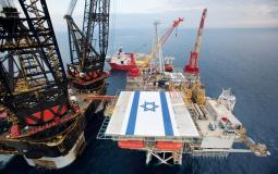 منصة لاستخراج الغاز الإسرائيلي  في عرض البحر الأبيض المتوسط