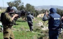 الاعتداءات على الصحفيين الفلسطينيين