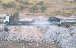 الاحتلال يستولي على كميات كبيرة من الحجر وطوب البناء