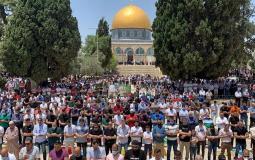 صلاة الجمعة في المسجد الأقصى