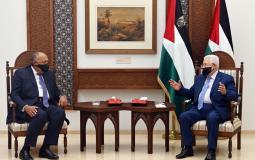 الرئيس عباس وسامح شكري