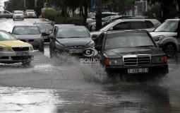 حالة الطقس الطرق في غزة
