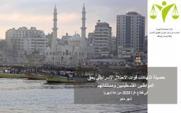 الميزان يصدر تقريره بشأن انتهاكات الاحتلال لقواعد القانون الدولي بغزة