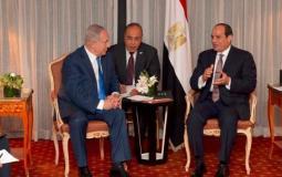 لقاء سابق بين الرئيس المصري عبد الفتاح السيسي وبنيامين نتنياهو