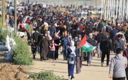 مسيرات العودة شرق غزة - ارشيفية