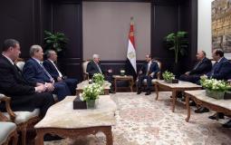 جانب من لقاء الرئيس محمود عباس ونظيره المصري عبد الفتاح السيسي