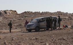 مصادرة الاحتلال لسيارة تلفزيون فلسطين في طوباس