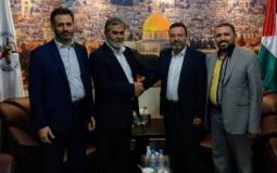 """الأمين العام لحركة الجهاد الإسلامي في فلسطين زياد النخالة يستقبل وفداً من """"الحزب السوري القومي الاجتماعي"""