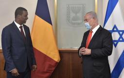 خلال لقاء نتنياهو برئيس المجلس الوزراي التشادي