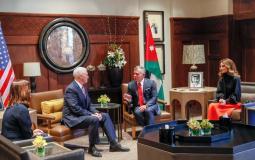 ملك الاردن عبد الله الثاني يلتقى نائب الرئيس الامريكي مايك بنس