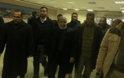 محمود الزهار يصل غزة