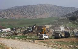 الاحتلال يهدم مسكنين شرق طوباس بحجة البناء غير المرخص