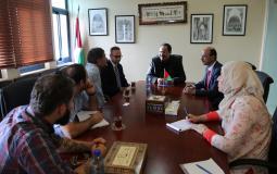 """صيدم يطلع وفداً من جامعة """"زيغن"""" الألمانية على أوضاع التعليم في فلسطين"""