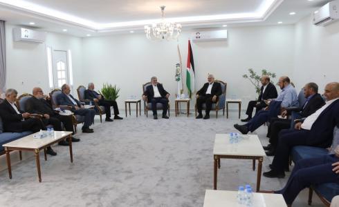 اجتماع وفدي حماس والجهاد الإسلامي في قطر