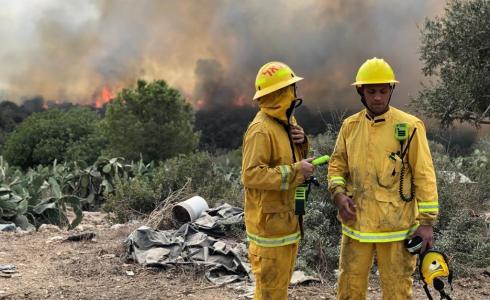 اندلاع حرائق في اسرائيل