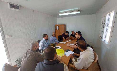 الأشغال بغزة تعقد لقاءات فنية لتنسيق أعمال مشروع تأهيل شارع الرشيد